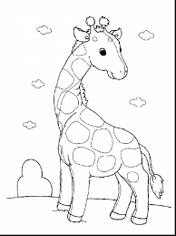 Brilliant Giraffe Baby Animal Coloring Pages With Page And For Adults
