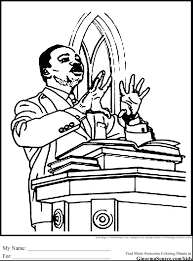 Martin Luther King Coloring Pictures Jr Pages To Print Printable Great