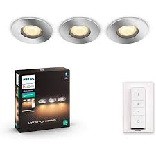 philips hue adore adore led recessed spotlight with dimmer