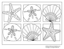 Free Printable Summer Coloring Pages 6 Seashells