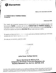 VERIFICAR CARTA CONVENIO BANAMEX