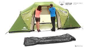 tente 4 places 2 chambres seconds family 4 2 xl quechua quechua arpenaz family 4 2 xl setup