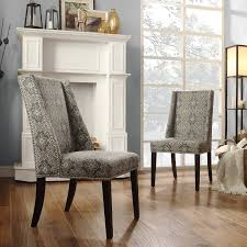Chelsea Lane Fabric Wingback With Nailhead Accent Chair - Set Of 2 ...