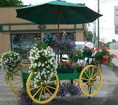 121 best Old fashioned flower carts images on Pinterest