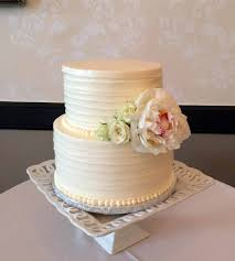 White Peony Textured Buttercream Cake