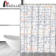 miracille lustige chemische mathematische formel gedruckt badezimmer wasserdicht polyester dusche vorhänge 12 haken hause dekoration