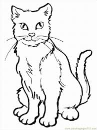 Pages Cat Mammals Cats Printable Coloring Page