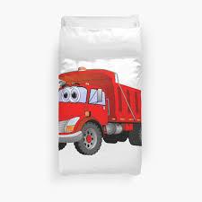 100 Red Dump Truck 3 Axle Cartoon Duvet Covers By Scott Hayes Bubble