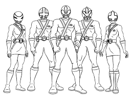 Power Rangers Coloring Pages Ranger Online