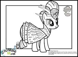 My Little Pony Coloring Pages Princess Celestia In A Dress 51