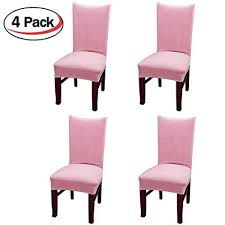 Smiry Velvet Stretch Dining Room Chair Covers Soft Removable Slipcovers Set Of 4