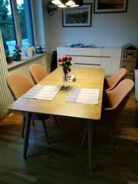 esszimmer tisch mit 4 stühlen sessel eiche 2 jahre alt