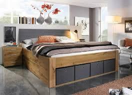 funktionsbett bett stauraum eiche grau schlafzimmer neu