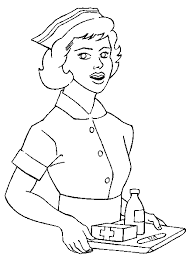 A Nurse Drawing For Colouring In