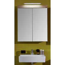 badezimmer spiegelschrank in eiche asteiche amanda 60 x 77 cm inklusive led spiegelle und steckdose