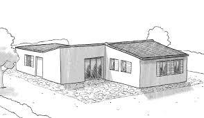 plan maison en l plain pied 3 chambres plan maison plain pied avec 3 chambres et garage ooreka