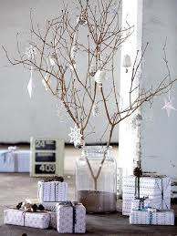 Branch As Christmas Tree With Ornaments