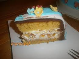 frühlings torte mit mandarinen quark füllung und fondantdecke