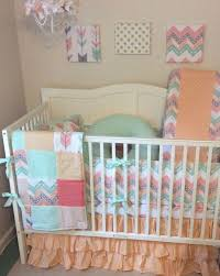 Coral And Mint Baby Bedding by 23 Best Peach Coral Mint And Gray Arrows And Chevron Baby Bedding