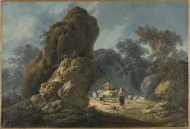 100 Rocky Landscape Jean Pillement 17281808 Drovers With Their Herd In A Rocky