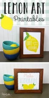 Free Lemon Printable Art Kitchen DecorKitchen