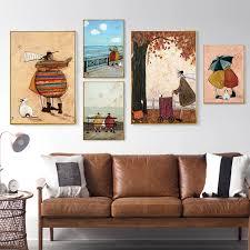 abstrakte skandinavien familie liebe nordic poster leinwand malerei wand kunst drucke bild für wohnzimmer schlafzimmer wohnkultur