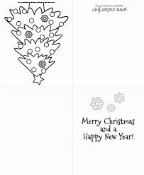 Christmas Tree Greeting Card Coloring Page Print Color Fun