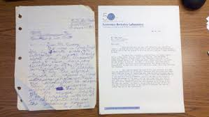 Blast From the Past Letter to and From Luis Alvarez – Uncertain