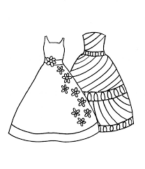 Fashion Dress Coloring Pages