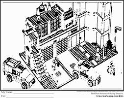 LEGO Juniors RaceCar Pit Stop Coloring Page Coloring Pages