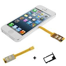 Dual SIM Card Multi SIM Card Flex Cable Tray Holder For iPhone 5