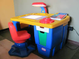 little tikes art desk with light and swivel chair for sale