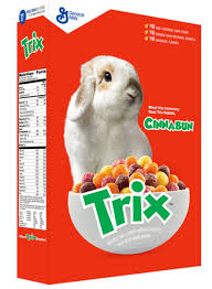 Real Rabbit Cinnabun On Trix Cereal Box