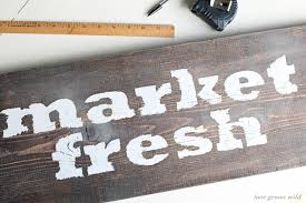 DIY Market Fresh Rustic Wood Kitchen Sign
