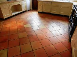 terracotta floor before cleaning in fifield kitchen with tiles
