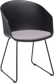 stuhl in schwarz mit stahl kunststoff entdecken moderner