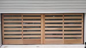 Handcrafted Wood Garage Doors