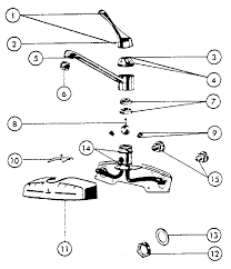 Peerless Kitchen Faucet Manual by Peerless Kitchen Faucet Parts Diagram Single Take Care Of Wall