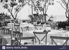 The Black And White Of Wedding Reception Dinner Table Setup ...