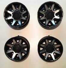 100 17 Truck Wheels Ultra Crusher 8 Lug Chevy Rim Black Machined Set 4