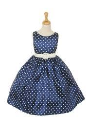 polka dot taffeta flower dress