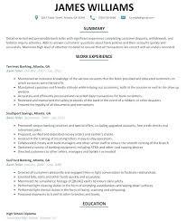 Bank Teller Sample Resume Examples For Financial Institution Tellers