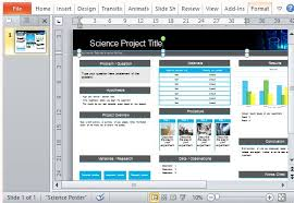 Science Project Poster Template For Powerpoint Ideas