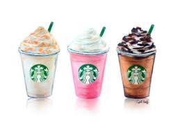 340x270 Set Of 3 Starbucks Drinks Print Art Illustration Wall