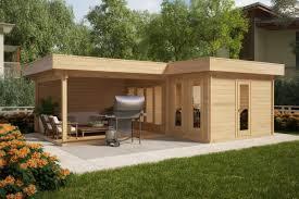 100 Contemporary Summer House Corner With Large Veranda Hansa A 18m2 44mm 6 X 3 M