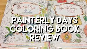 Painterly Days Watercolor Books Woodland And Flowers Adult Coloring Book Review Flipthrough