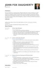 Seniorsalesmanagerresume Example Sales Manager Resume Samples