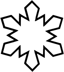 Click To See Printable Version Of Simple Snowflake Coloring Page