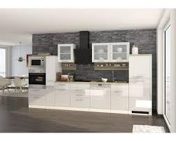 küchenzeile held möbel mailand weiß hochglanz 370 cm inkl e geräte