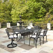 Patio Cushions Home Depot Canada by Home Styles Athens Charcoal 7 Piece All Weather Cast Aluminum